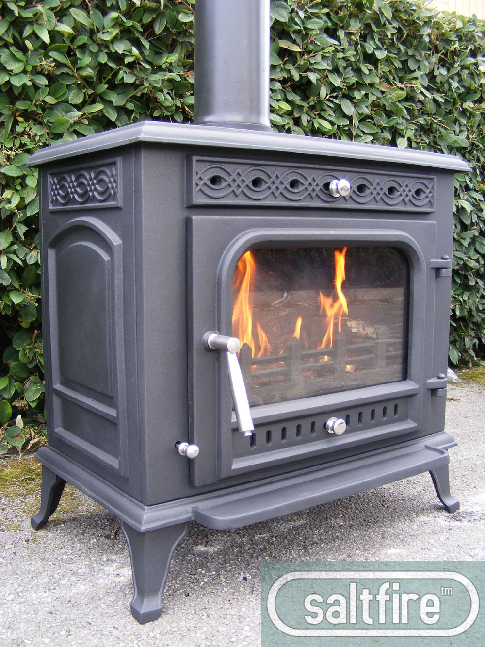 Click pictures for large version - Grande Purbeck 12kW Multifuel - Medium Multifuel Stoves