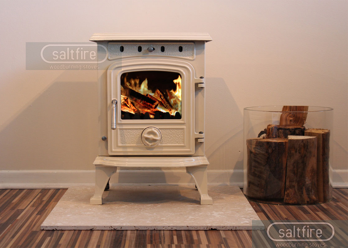 Hendon 4 5kw Cream Enamel Stoves Woodburning Stoves
